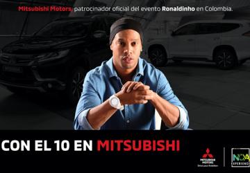 MITSUBISHI MOTORS Y LA FUNDACIÓN SPECIAL OLYMPICS SE UNEN PARA CELEBRAR LA VISITA DE RONALDINHO EN COLOMBIA.